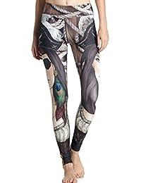 Ninimour Leggings de Impresión Cartón Printed High Spandex Elastic Pants