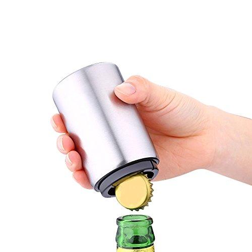 1 Stücke Edelstahl Flaschenöffner Magnetische Automatische Drücken Wein Bier Öffner Praktische Küche Zubehör
