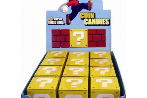 Nintendo Tins Super Mario Bros Coin Candies Bonbons Display (12) (Coin Candy)