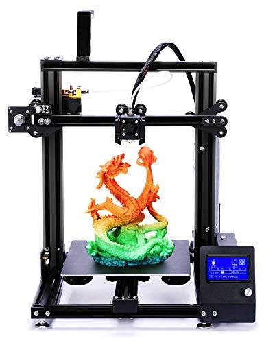 ADIMLab 3D Drucker 3d Printer Gantry-S Prusa i3 Typ 32-Bit-Platine 24V15A Leistung 230X230X260 Build Größe Power Resume Filament Detektor Metallextruder und 3Fans für E3D V6-Typ Hot End Metal Detector Lcd