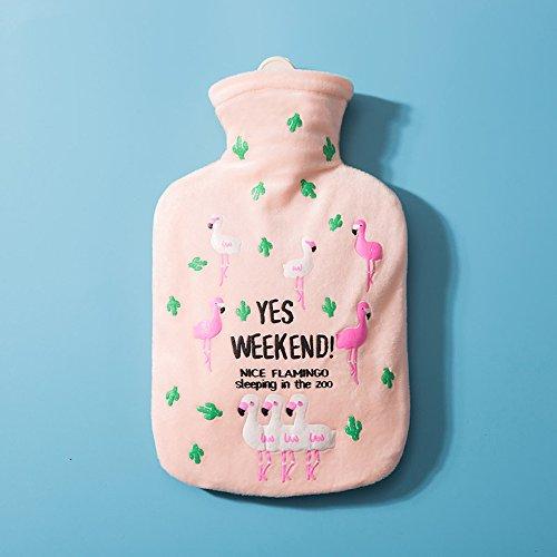 Drizzle Wärmflasche mit Deckel Tier Flamingo Geschenke für Kinder Familien Freundinnen | Hot & Cold Therapien (pink)