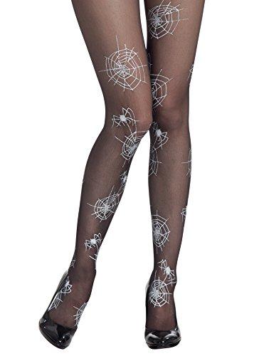 Boland 87801 - Strumpfhose Spiderweb, weiß