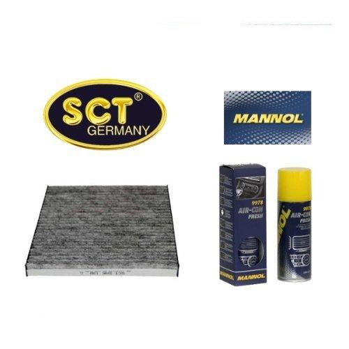 Preisvergleich Produktbild SCT Innenraumfilter Aktivkohle Pollenfilter Microfilter Kabinenfilter (Toyota) (Avensis) T25 + 200 ml Mannol Air Con Fresh Klimaanlagen Desinfektion