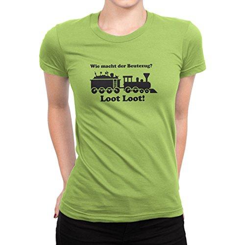 Planet Nerd Beutezug - Damen T-Shirt, Größe S, Kiwi