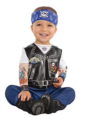 Größe blauen Biker Kostüm Infants (12-24 Months) ()