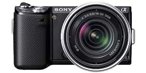 Sony NEX-5NKB Systemkamera (16,1 Megapixel, 7,5 cm (3 Zoll) Display, Live View) inkl. 18-55mm Objektiv schwarz