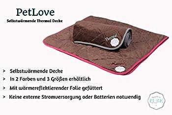 PetLove Couverture thermique auto-chauffante pour chiens et chats