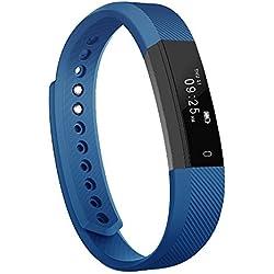 Pulsera Inteligente, Arbily Fitness Tracker Smart Wristband Bracelet monitorear la actividad de seguimiento de Bluetooth Pulsera Brazalete deportivo impermeable IP65 de la aptitud con el podómetro de caloría / / reposo monitor / alarma / SMS llamadas para iPhone IOS Android (azul)