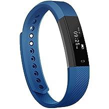 Pulsera Inteligente, Luluking Fitness Tracker Smart Wristband Bracelet la actividad de seguimiento de botón táctil de Bluetooth Pulsera Brazalete deportivo impermeable IP65 de la aptitud con el podómetro contador de calorías / / reposo monitor / alarma / SMS llamadas para iPhone IOS Android