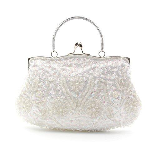 Höter Damen Handgemachte Perle Handtasche, Abendtasche Damen Clutch Für Party, Hochzeit (Handgemachte Handtasche)