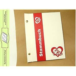 Stammbuch DIN A5 geschraubt weiß rot
