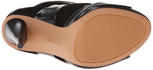 Nine West Amability Leder Sandale Blk/Blk