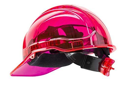 Portwest pv64pir Serie pv64Peak View Ratsche Translucent Hard Hat Helm, Regular, Rosa