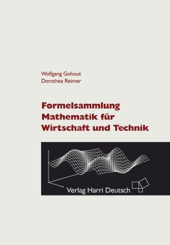 Buchseite und Rezensionen zu 'Formelsammlung Mathematik für Wirtschaft und Technik' von Wolfgang Gohout