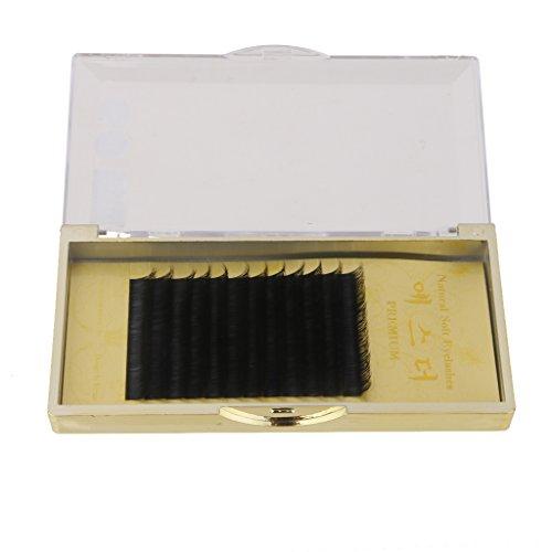 Faut Cils Individuel Bouclé Extensions de Cils Noir 11mm
