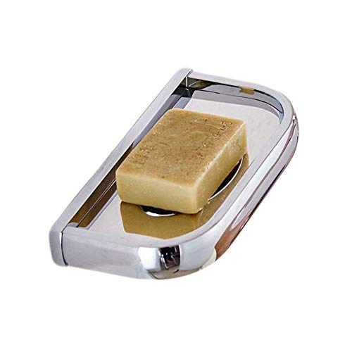 Badezimmer Toilette Seifenschale Seifenschale Seifenschale Einfache Elegante Coole Messingkonstruktion Moderne Silber Chrom Poliert Wandmontage (Farbe: -, Größe: -) Seifenhalterkorb für Dusche,
