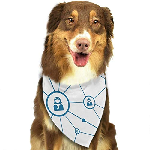 Social Kostüm Media - Sdltkhy Social Media Network Pet Bandana Washable Reversible Triangle Bibs Scarf - Kerchief for Small/Medium/Large Dogs & Cats