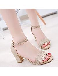 LGK   FA Sommer Damen Sandalen den Sommer Ging mit grob hochhackige Sandale  Zehenschuh 59f4d85305