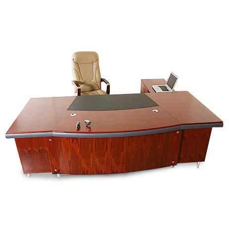 Chef Schreibtisch Buero Büromöbel Paris linksseitig Echtholz Kirschbaum von Jet-Line