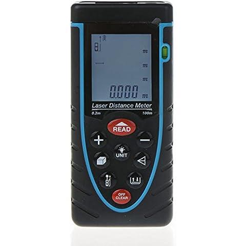 Trena Droys (TM)-Misuratore Laser di distanza da Golf Rangefinder Range Finder con livella a bolla-Metro, 100 m, precisione di misurazione 99,97 Meters - Golf Distanza Finder