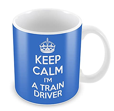 BLUE KEEP CALM I'm A Train Driver Mug Coffee Cup