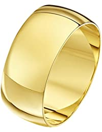 Theia Unisex 9 ct Yellow or White, Super Heavy D Shape, Polished, 2-10 mm Wedding Ring