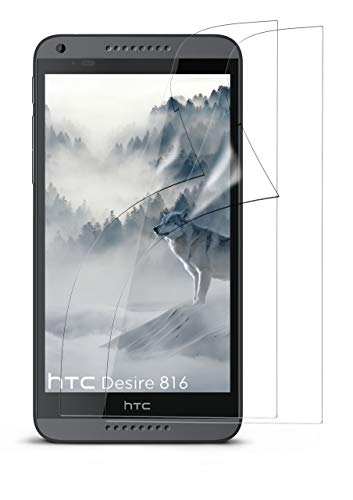moex 2X HTC Desire 816 | Schutzfolie Klar Bildschirm Schutz [Crystal-Clear] Screen Protector Display Handy-Folie Dünn Bildschirmschutz-Folie für HTC Desire 816/816G Bildschirmfolie