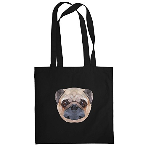 Texlab–Poly Pug Face–sacchetto di stoffa Nero