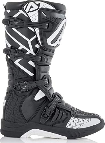Acerbis Off Road X-Team - Botas de Deporte (Talla 42), Color Blanco y Negro