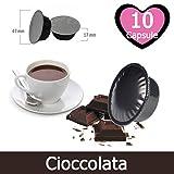 10 Capsule Cioccolata Compatibili Lavazza A Modo Mio - Bevanda Solubile Compatibile con Macchina Lavazza A Modo Mio