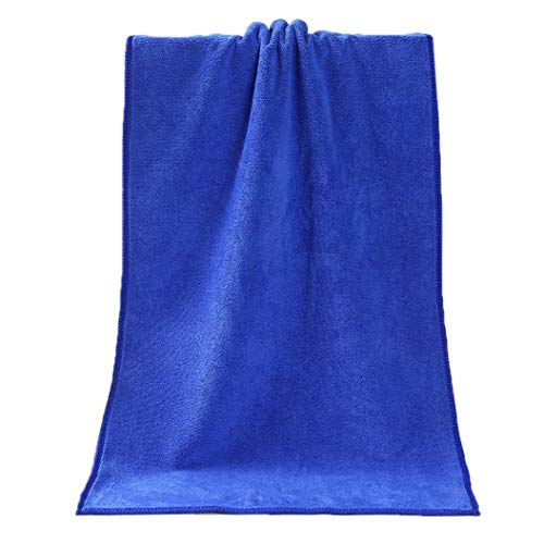 Mikrofaser Badetuch , mamum 1Badetuch Dusche saugstark Superfine Faser angenehm weiches Badetuch Einheitsgröße blau