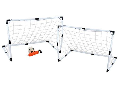 Iso Trade Fußballtor Set Groß+Klein Ball Handpumpe Leicht 3 Starke Netze Einfache Montage 6729 -