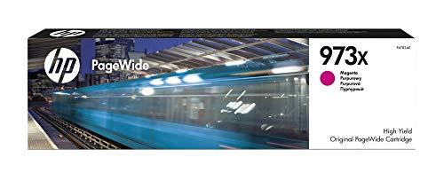 HP 973X F6T82AE haut rendement, cartouche d'encre Authentique, imprimantes HP PageWide Pro 452/477/552/577, Magenta