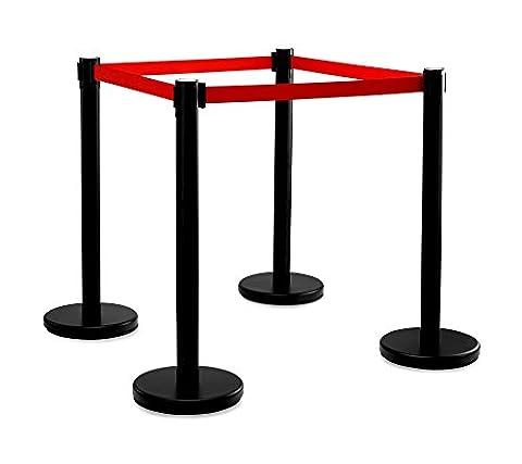 Stagecaptain PLS-200B Barricade Crowd Direction System -Black 4-Piece SET