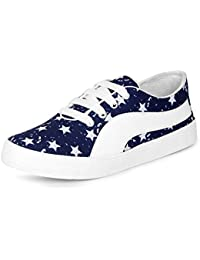 Bella Toes Women's Blue Synthetic Leather Sneakers Shoes (6635-Blue)