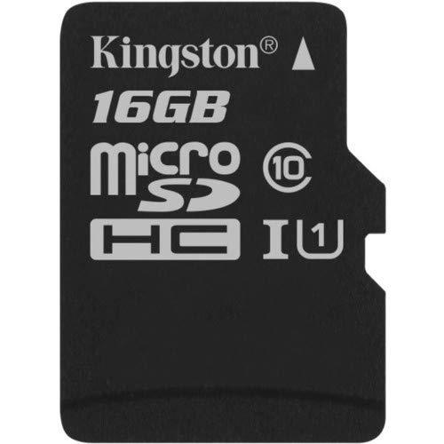 Kingston SDCS/16GBSP  MicroSD Canvas Select  Geschwindigkeiten der Klasse 10 UHS-I - bis zu 80 MB/s Lesezugriff  ( Nur Karte )- Erwecken Sie HD-Videos zum Leben (Sd-karte Micro Kingston)