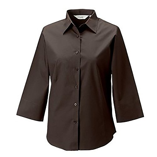 Russell Collection Easy Care Bluse, 3/4-Armlänge Schwarz