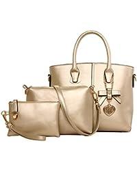 Frau Messenger Tasche Handtasche Schultertasche Dreiteiliger Bogen