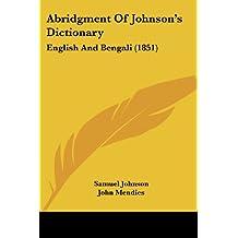 Abridgment of Johnson's Dictionary: English and Bengali (1851)