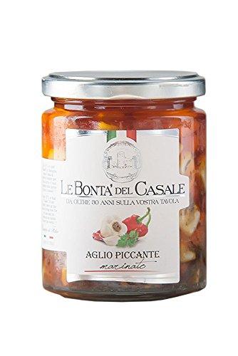 Le Bonta'del Casale Aglio Piccante – Eingelegter pikanter Knoblauch, 1er Pack (1 x 280 g)