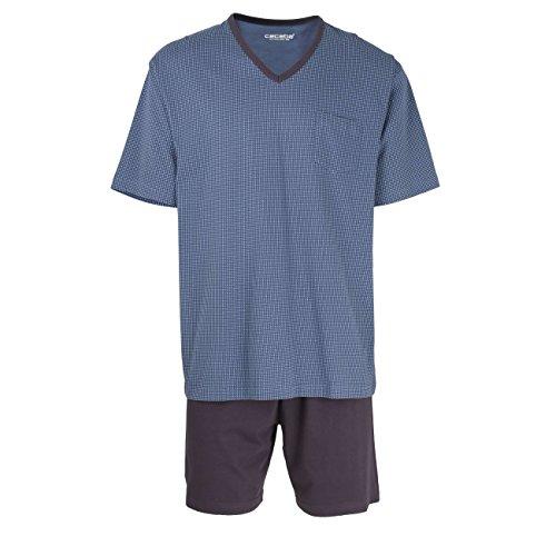 Ceceba Herren Shorty, kurzarm, Baumwolle, Single Jersey blau, bedruckt 58