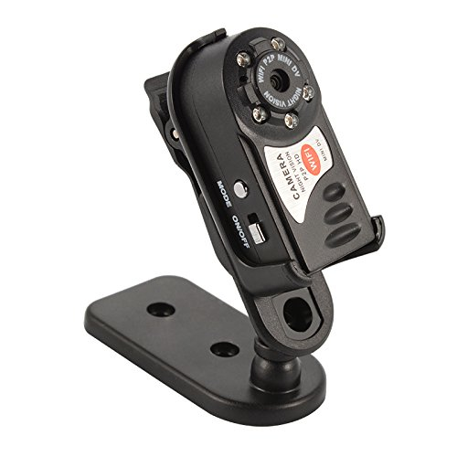 XCSOURCE® Q7 drahtlose WIFI Kamera Mini versteckte Digital IP Cam P2P DV Videorecorder DVR PIR Nachtsicht Eingebautes Mikrofon RC639 (Versteckte Mikrofon Wireless)