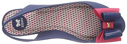 Zaxy - Gift Fem, Scarpe col tacco con cinturino a T Donna Blu (Blau (navy 8486))