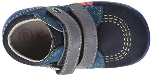 Kickers Baby Jungen Babyscratch Lauflernschuhe, Blau Blau (Marineblau / Blau)