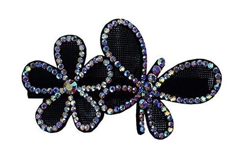 Jessidress Luxus Haarclip Haar Clips Haarspangen Haar Blumen Stirnbander Blumenmädchen Clips Schwarz