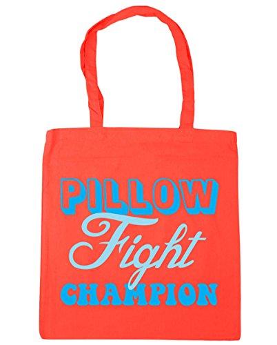 hippowarehouse-bolsa-de-playa-de-algodon-mujer-naranja-coral-unica