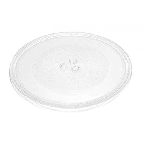 Spares2go Universal Glass Turntable Plate for all makes of Microwave Oven (255mm...