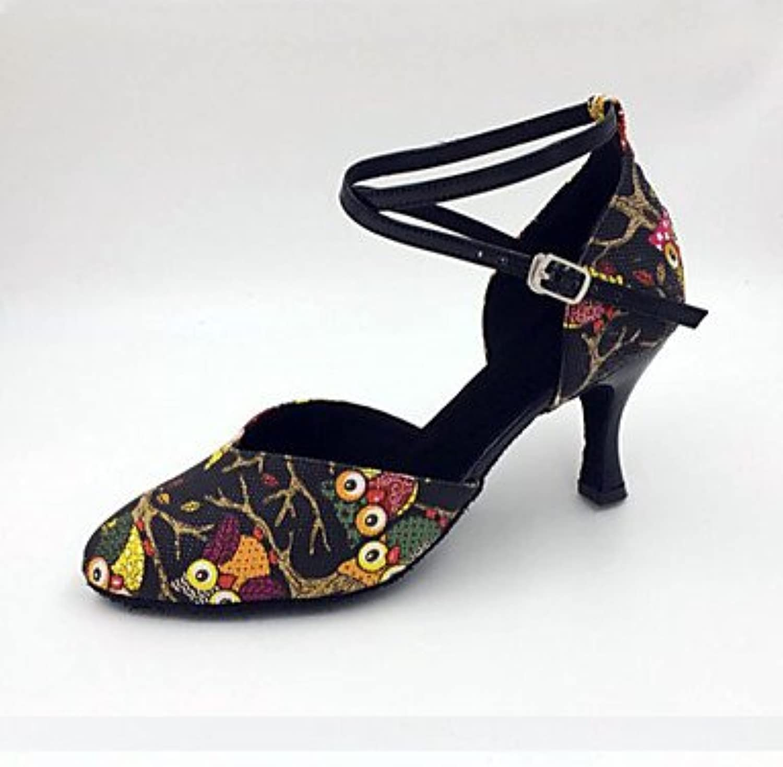 Chaussures de danse(Noir) Aiguille-Similicuir-Latine -Talon Aiguille-Similicuir-Latine danse(Noir) / Moderne / SambaB072F8XRDDParent 25b461
