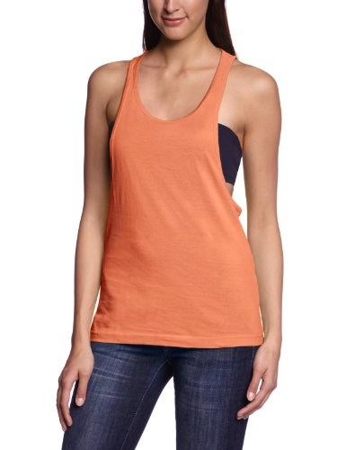 Urban Classics Ladies Loose Burnout Tanktop - T-shirt de sport - Femme Orange (Neonorange)