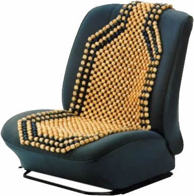 Image of Quality Camel Coloured Wooden Beaded Car Seat Cover